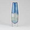 Sven palmqvist, a 'kraka' glass vase from orrefors.