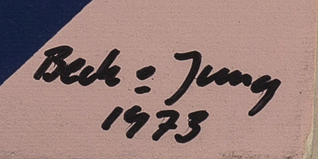 Beck & jung, a singed dated and numbered serigraph.