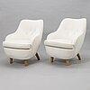 Runar engblom, a pair of early 20th century armchairs.
