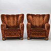 MÄrta blomstedt, a pair of  mid 20th century armchairs.