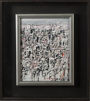 REINO HIETANEN, oil and mixed media, signed and dated -77.