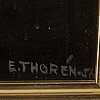 Esaias thorÉn, oil on panel, signed and dated -56.