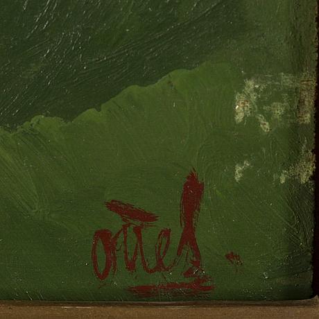 Otte skÖld, oil on panel, signed.