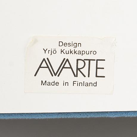 "YrjÖ kukkapuro, keinutuoli, ""a509"", avarte 1980-luku."