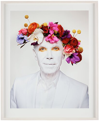 "Martin schoeller, ""jeff koons with floral headpiece, new york"", 2013."