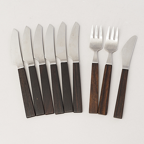 "Bertel gardberg, a 45-piece set of ""triennale"" cutlery for fiskars and hackman, finland."