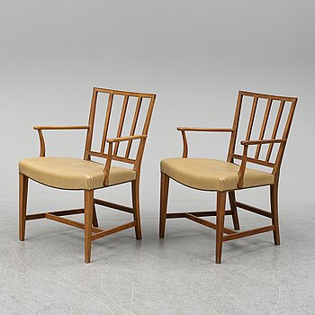 JOSEF FRANK, a pair of model 620 armchairs.