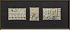 TrÄsnitt, 2 st, japan, shunga, 1800-tal.