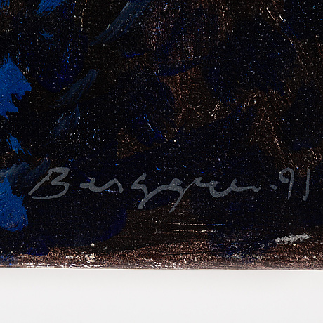 Kalle berggren, oil on canvas, signed and dated -91.