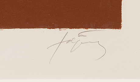 Antoni tÀpies, colour lithograph, signed, numbered 46/75.