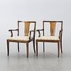 A pair of armchairs, 1930-/40's.