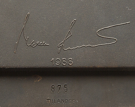 Kimmo pyykkÖ, a signed and dated bronze sculpture.