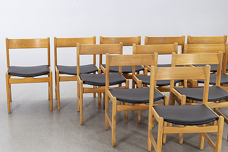 Hans j wegner, 12 chairs, for getama, denmark.