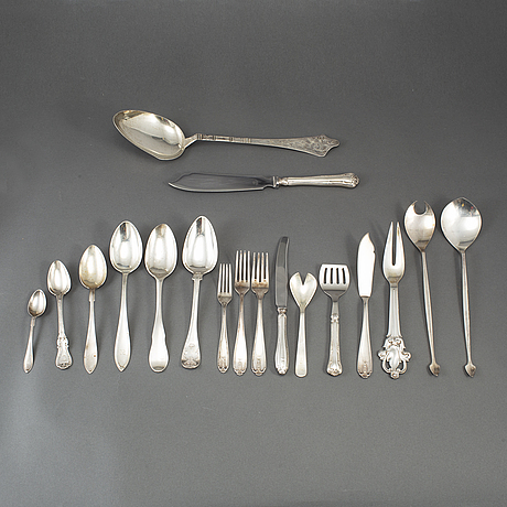 41 psc silver cutlery, some wiwen nilsson, lund 1948-52.