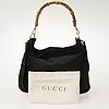 Gucci, bamboo handle shoulder bag, väska.