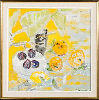 ANITA SNELLMAN, oil on canvas, signed and dated -87.
