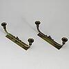 Kandelabrar, ett par, patinerad brons, lyfa, danmark.