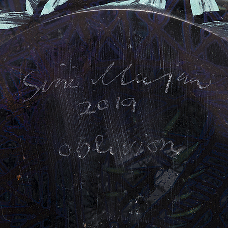 Sini majuri, a 'oblivion ' sculpture signed sini majuri 2019, suomenlinna.