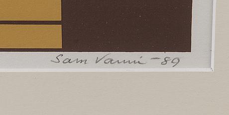 Sam vanni, serigrafi, signerad och daterad -89, numrerad 43/75.