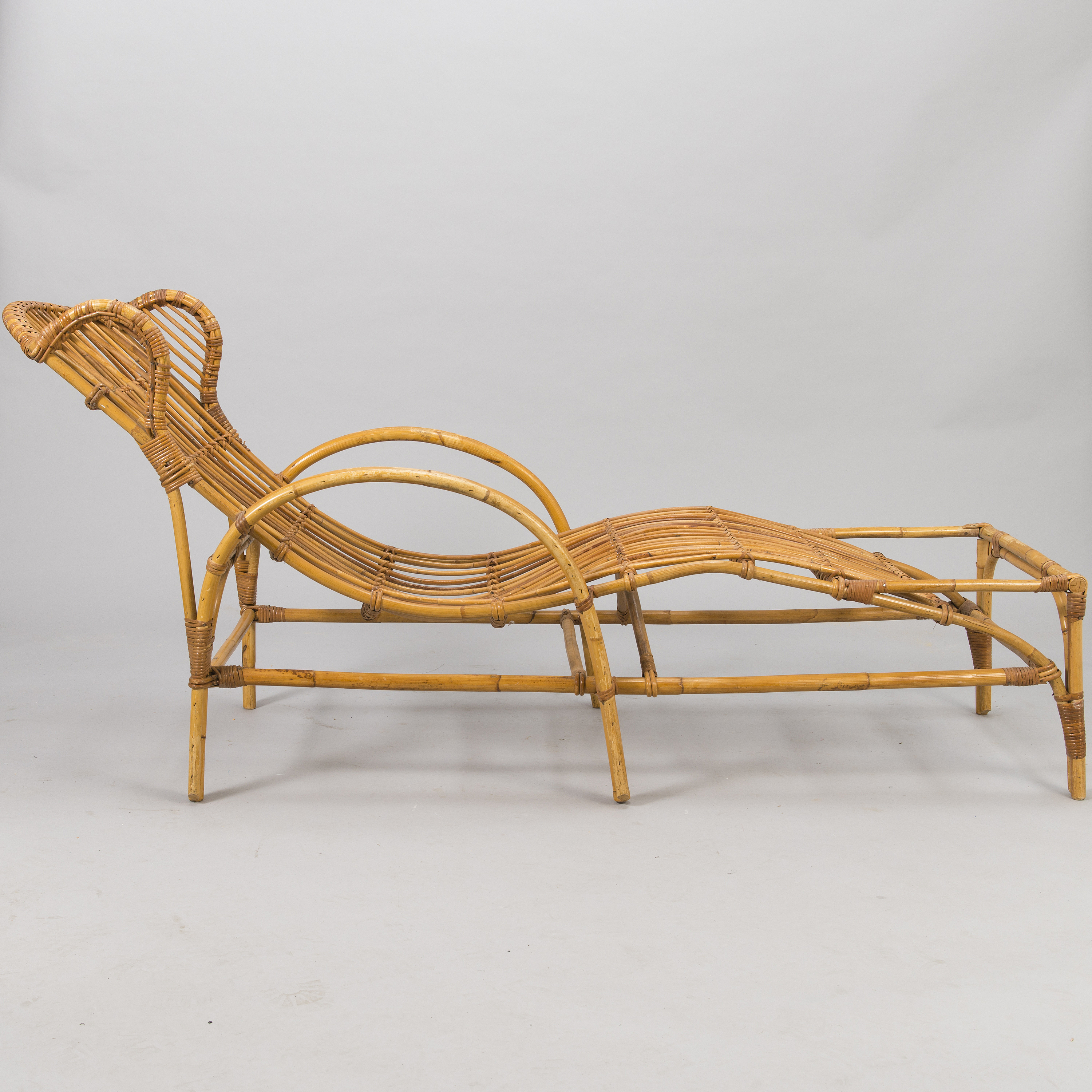A Mid 20th Century Rattan Lounge Chair Bukowskis