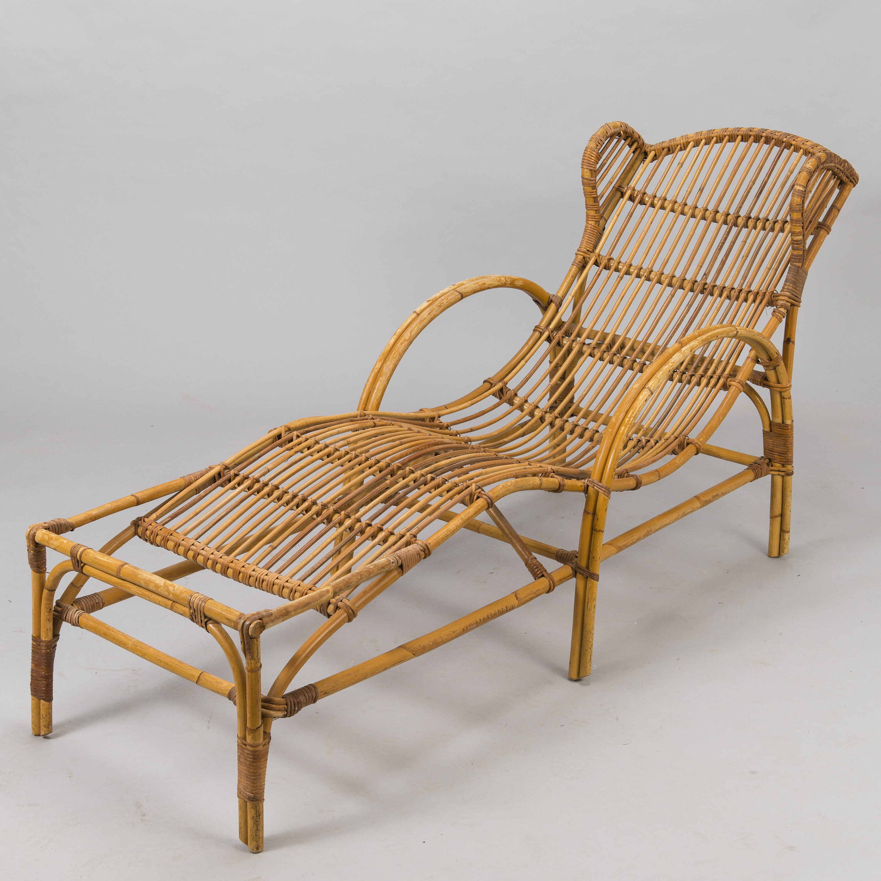 Picture of: A Mid 20th Century Rattan Lounge Chair Bukowskis