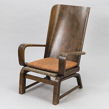 CARL-JOHAN BOMAN, An early 1930s 'Flexible chair' for N. Bomanin Höyrypuusepäntehdas, Turku.