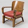 """Carl-johan boman, nojatuoli, """"joustava tuoli"""", n. bomanin höyrypuusepäntehdas, turku. 1930-luku."""