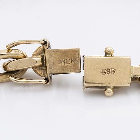 Armband fasad ankarlänk 14k guld 31,5 g.