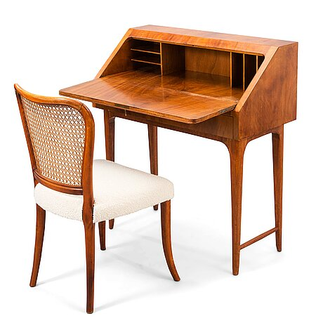 Gunnel nyman, a 1940's chair and probably a secretaire by gunnel nyman for oy boman ab.
