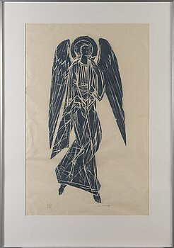 INA COLLIANDER, wood cut, signed and dated 1959, numbered t.p.l'a I-V 10 IV 2/10.