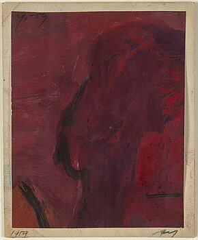 ADJA YUNKERS, gouache, signed and dated 1959.