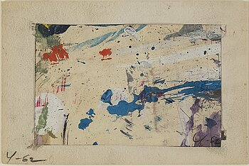 ADJA YUNKERS, gouache on paper, signed and dated -62.