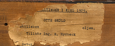 Otte skÖld, oil on panel, signed otte s.