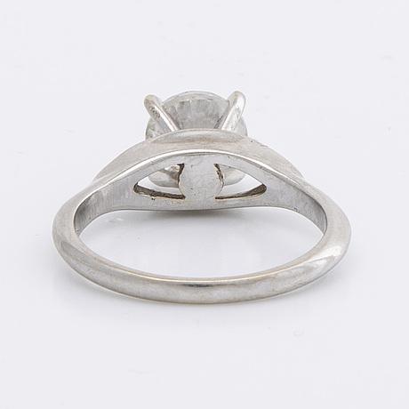 Ring 14k whitegold w 1 brilliant-cut doamond approx 1,3 ct approx g-h i.