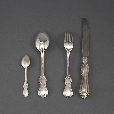 30 psc silver cutlery, 'olga', some gab stockholm 1951.