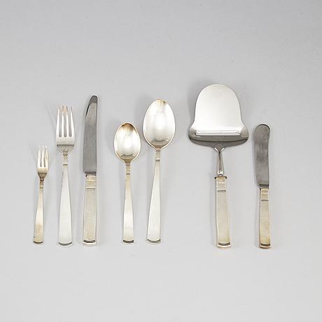 Jacob Ängman, 57 psc silver cutlery 'rosenholm', gab some stockholm 1969.