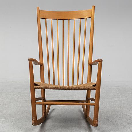 """Hans j wegner, gungstol, """"j16"""" fdb møbler, danmark 1940-tal."""