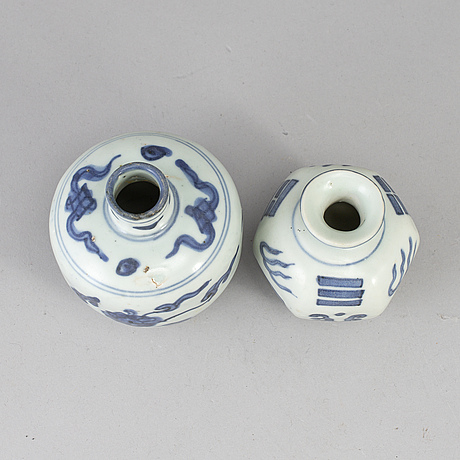 Two blue and white jars, ming dynasty, (1368-1644).