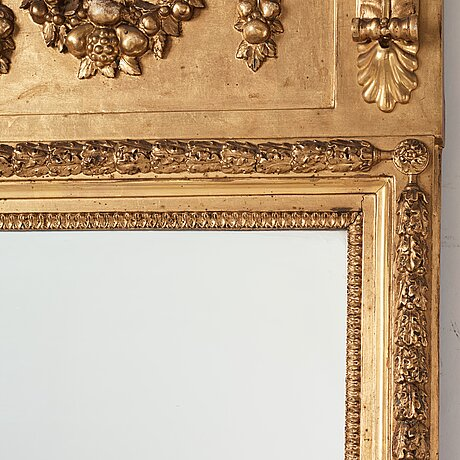 A late gustavian mirror attributed to pehr ljung.