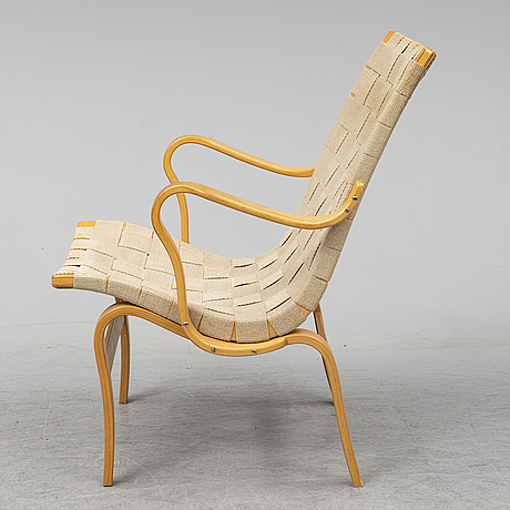 A beech bruno mathsson 'eva' armchair from dux.