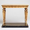 A late gustavian early 19th century console table.