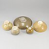 A group of five brownish glazed vessels, south east asia, songstyle, 20th century.