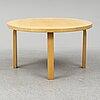 Alvar aalto, a birch coffee table from artek, finland.