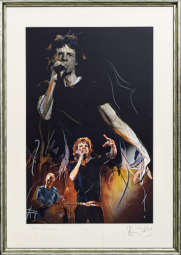 Ron wood, serigraph, signed, 44/295.