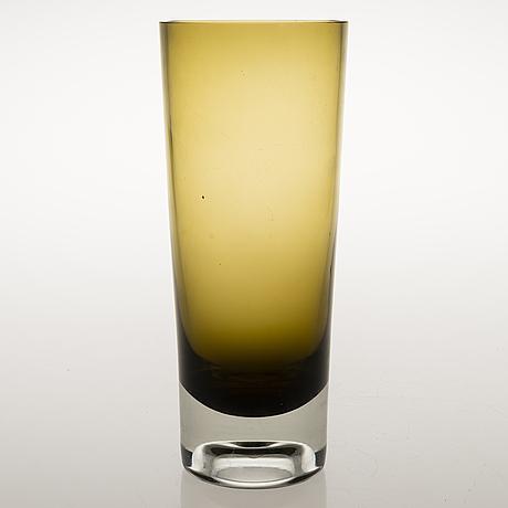 Kaj franck, a glass vase signed k.f. nuutajärvi notsjö -61.