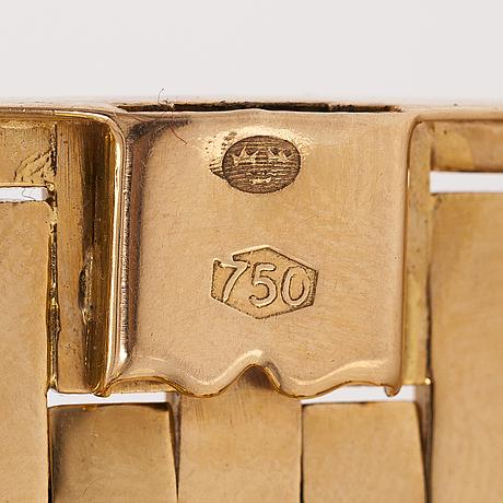 Rannekoru, 18k kultaa. tuontileimattu.