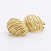 Earrings 18k gold, clip mechanism, 15,5 g.