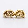 Earrings 18k gold, clip mechanism, 15,5 g.