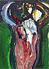Bengt lindstrÖm, acrylic on paper fixed to canvas, signed.