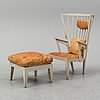 Nirvan richter, a painted beech easy chair and ottoman from norrgavel.